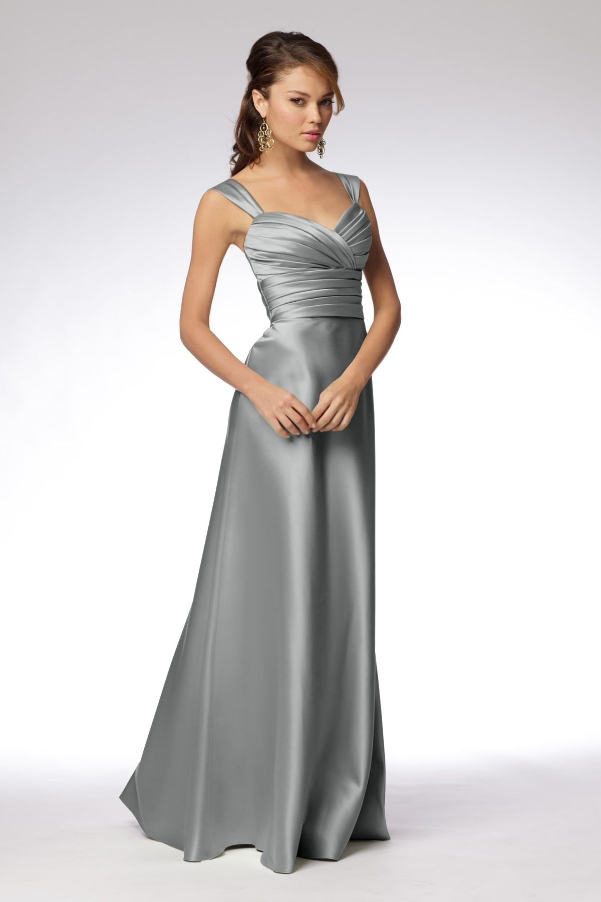 Wtoo maids dress 961 the big day pinterest lime duchess satin shirred strap floor length dress with surplice draped bodice and a line bias skirt with sash at waist ombrellifo Choice Image