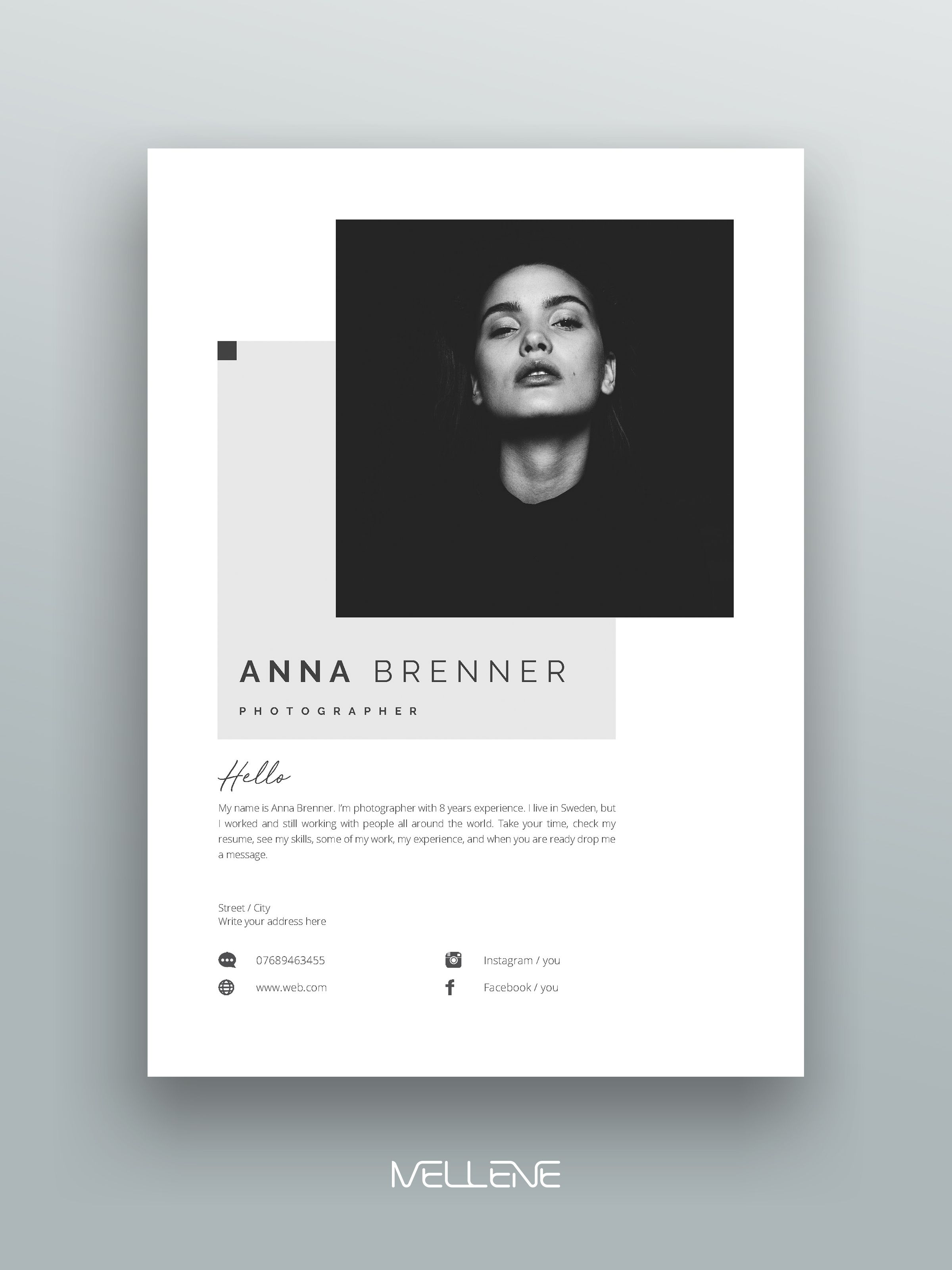 Resume Template 5 Page Cv Template Cover Letter Instant Download For Ms Word Anna Mailer Design Resume Design Page Layout Design