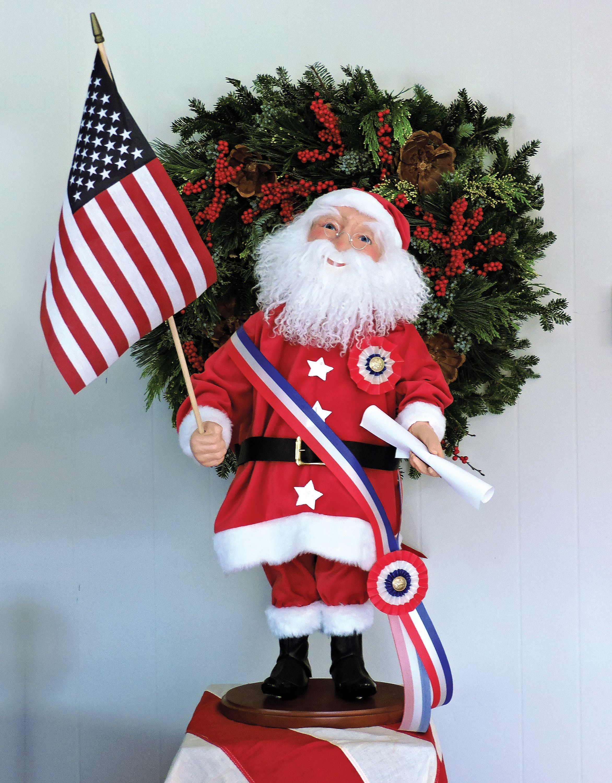 Christmas carolers figurines for sale - Byers Choice Carolers Clockwork Nodder Patriotic Santa