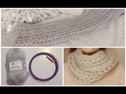 diy action snood tress facile au tricotin circulaire youtube tricotin g ant pinterest. Black Bedroom Furniture Sets. Home Design Ideas