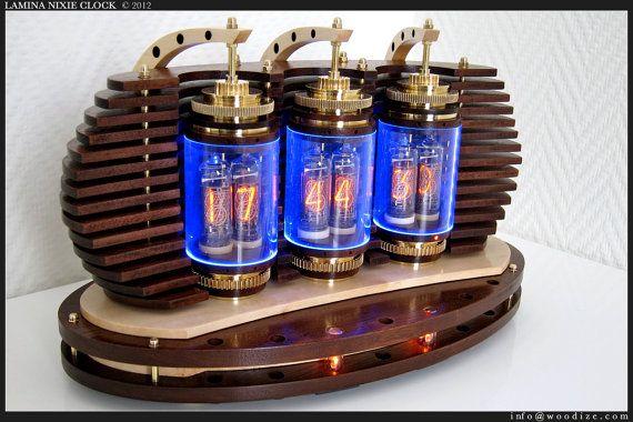 nixie tube clock :: etsy | Steam | Steampunk clock