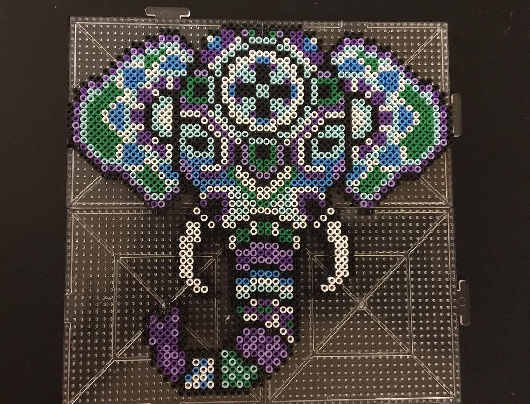 Tribal elephant mini perler beads by tmm6119 - Pattern: https://de.pinterest.com/pin/374291419014300719/