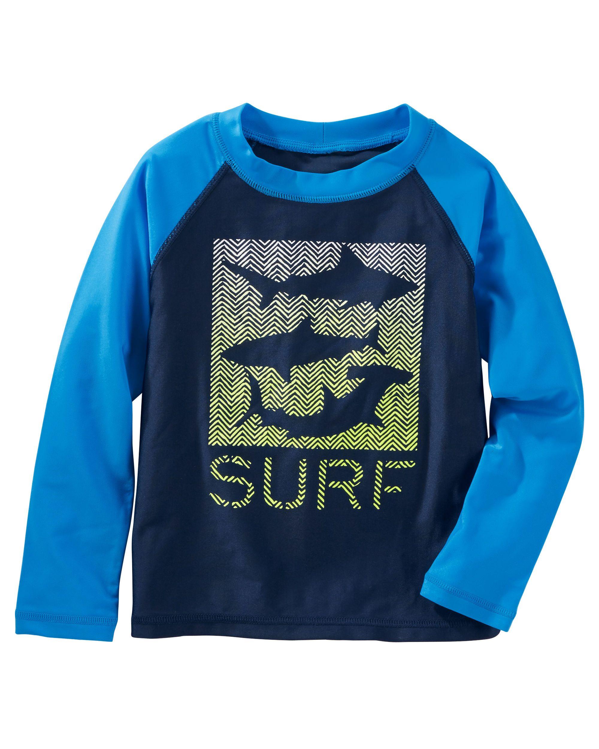 Osh Kosh Baby Boys Surf Crew Short Sleeve Rash Guard Set
