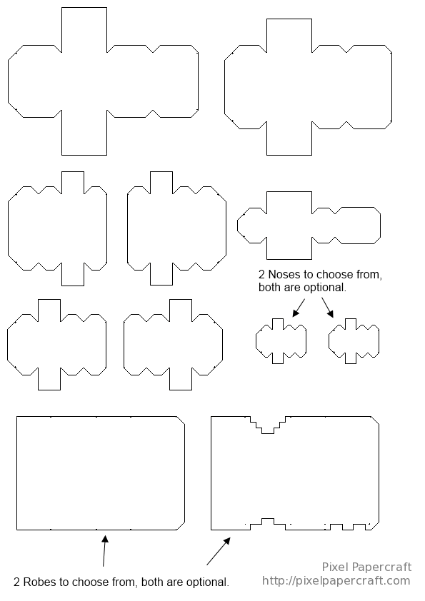 Minecraft Papercraft Coloring Pages Paper Crafts Coloring Pages Color