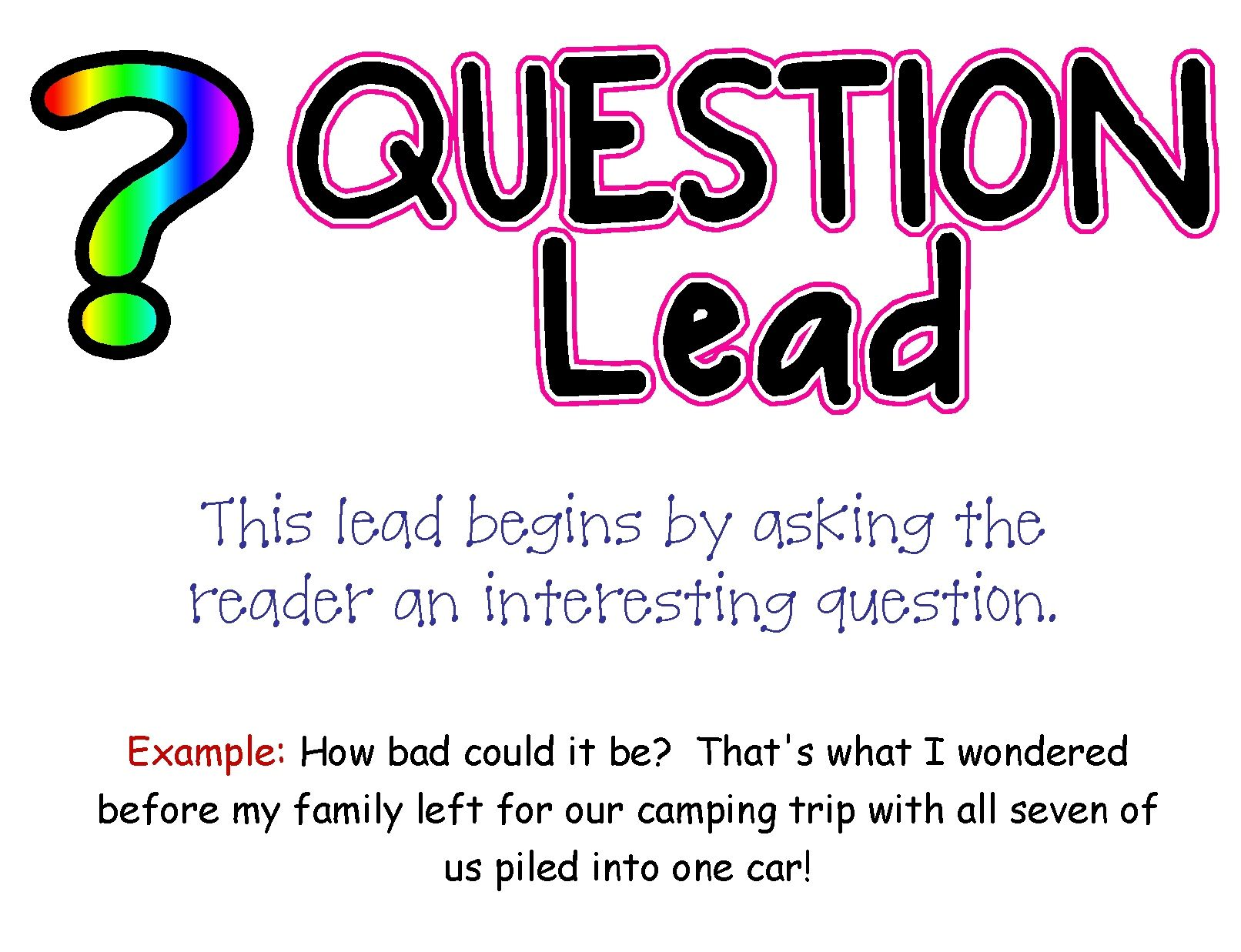 Question Lead