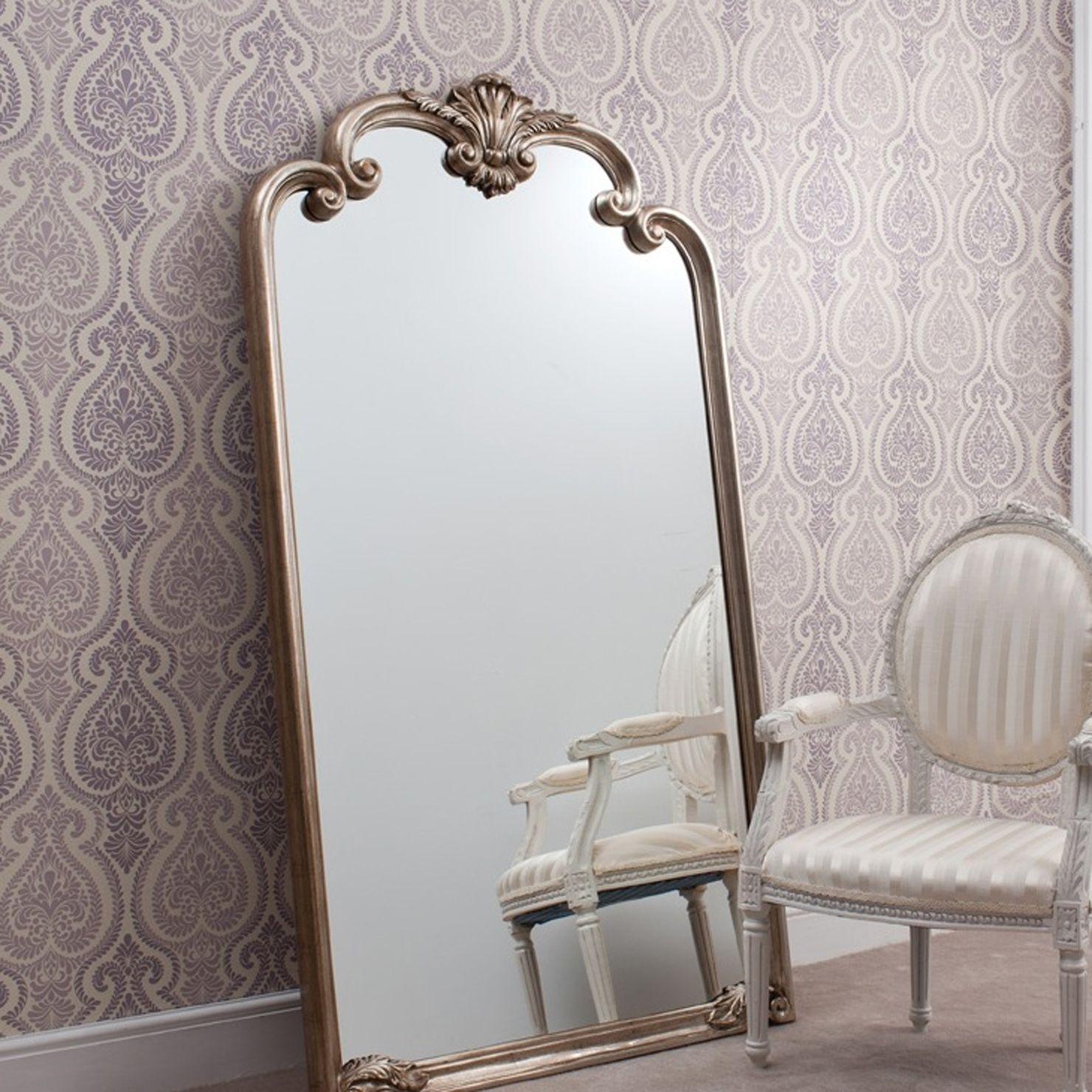 Gallery Palazzo Silver Leaner Mirror | ACHICA | Home Decor ...