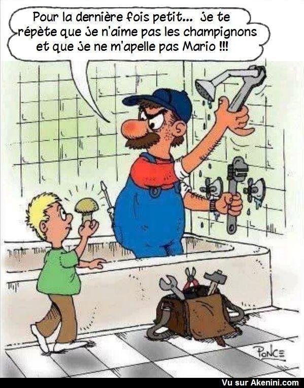 Images Fun Tous Les Plombiers Ne Sont Pas Mario Humour Illustration Drole Drole