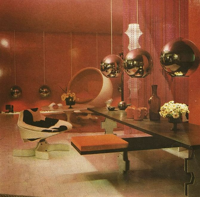 Russian Interior Decorating Style Vintage Decor Ideas For: Inspirational Retro Futuristic Living Room Ideas