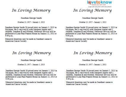 Write Your Own Obituary Template Template Pinterest Templates