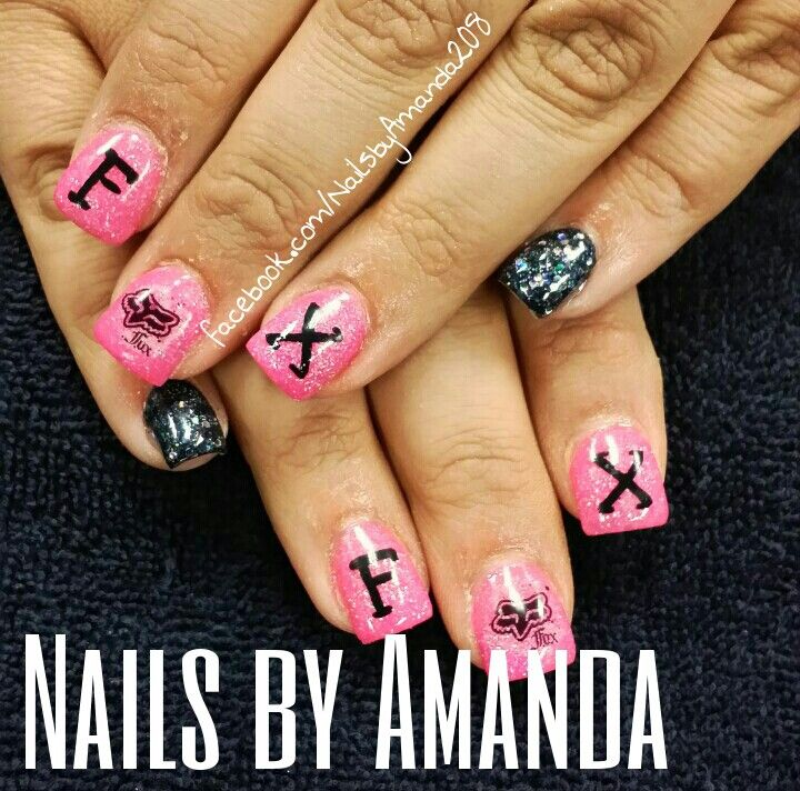 Fox racing nails. I would only put the glitter on the tips | Nails ...