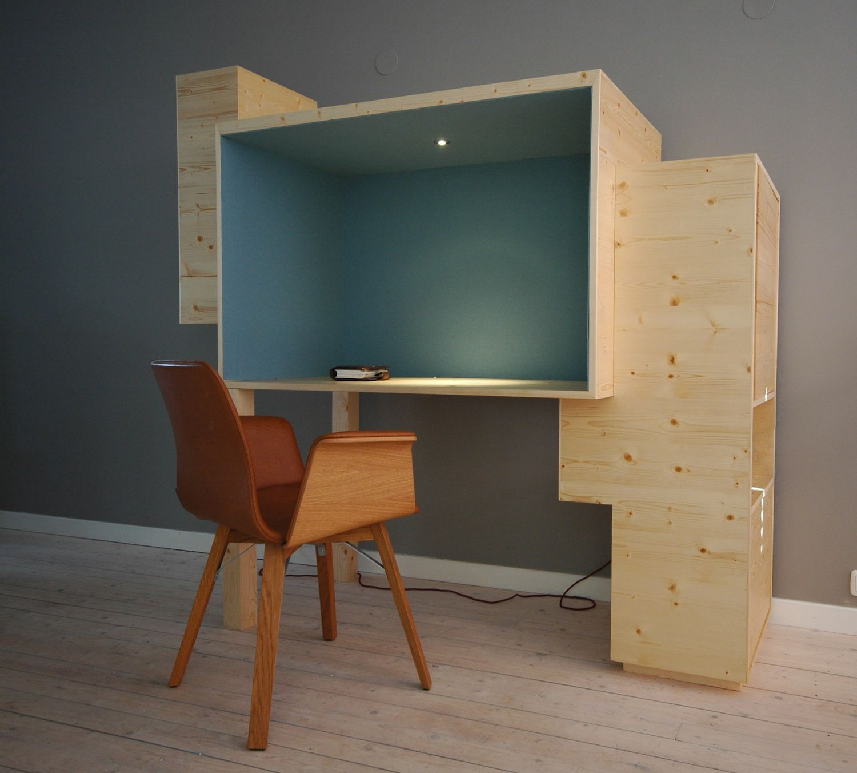 kantoor in woonkamer | Furniture | Pinterest | Plywood, Desks and ...