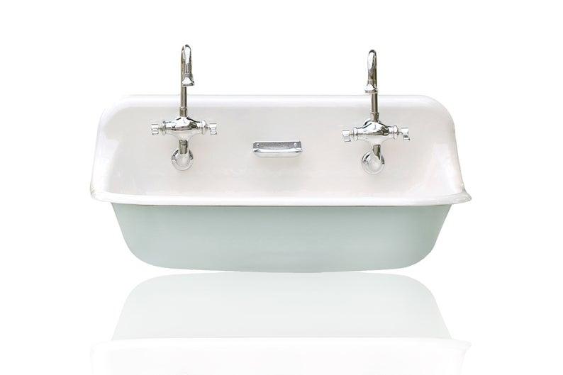 36 Antique Inspired Kohler Farm Sink Green Blue Cast Etsy