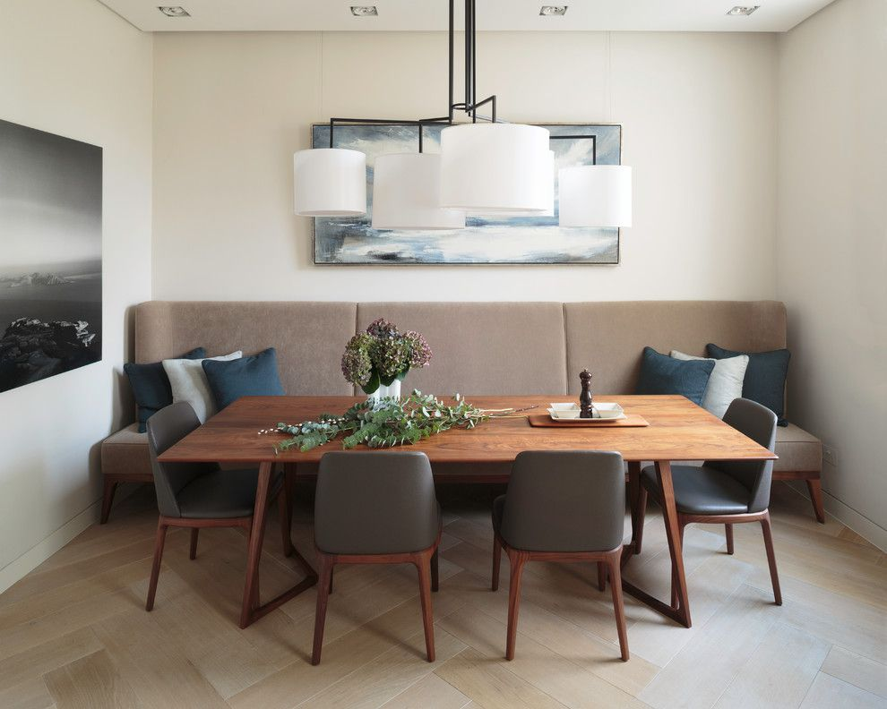 Ultra Modern Banquette Seating At Home Trendir Mid Century Modern Dining Room Dining Room Banquette Dining Room Contemporary