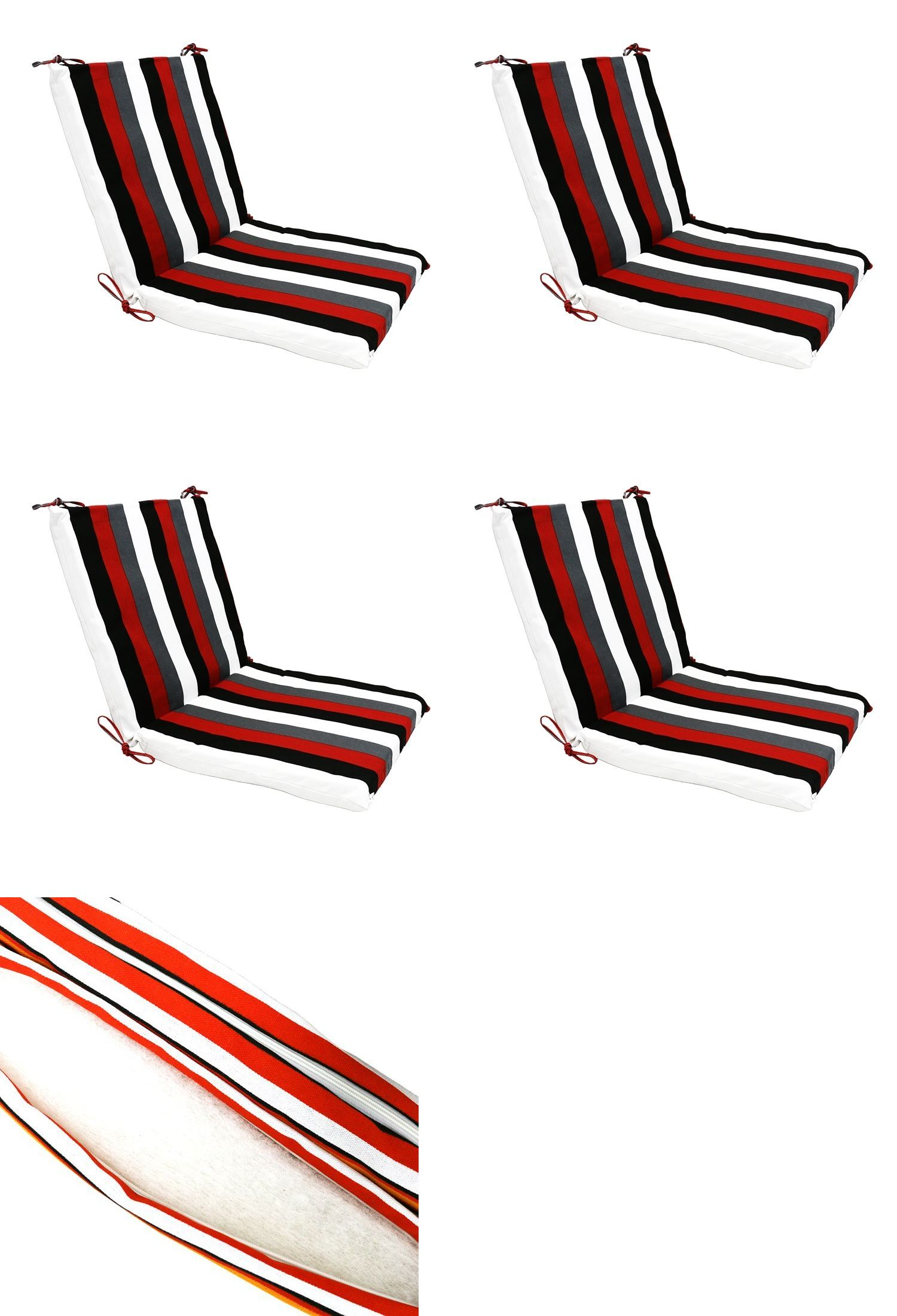 Patio Furniture Cushions And Pads 79683 Red Stripes Patio Lounge