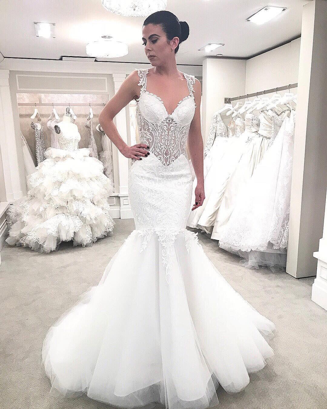 Pnina Tornai Mermaid Lace Wedding Dress Available At Kleinfeld Bridal Kleinfeld Bridal Pnina Tornai Wedding Dress Ball Gown Wedding Dress