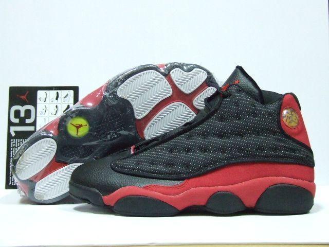 air jordan 13 retro black red