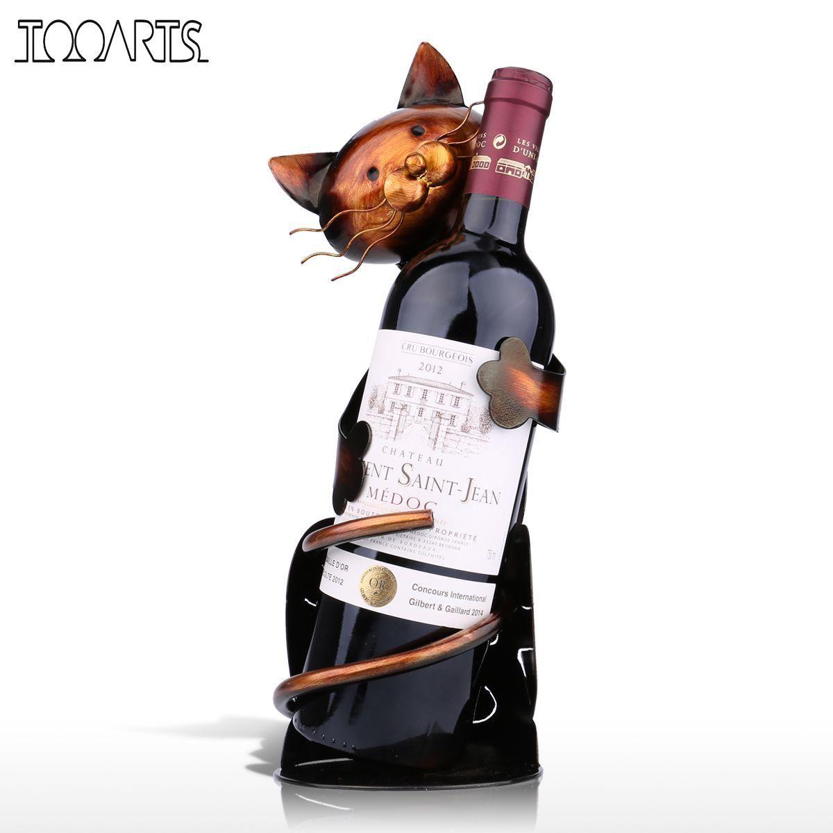 Pas Cher Tooarts Chat Support De Vin Vin Rack Etagere En