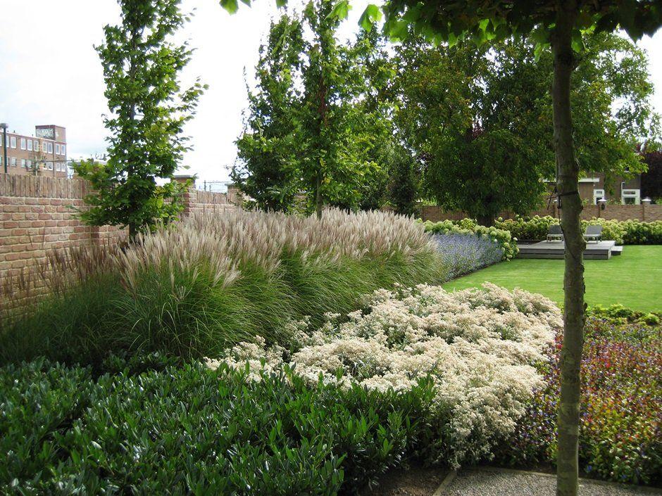 Beplantingsplan bloeiende planten eenvoud rust strak for Tuinarchitect modern strak