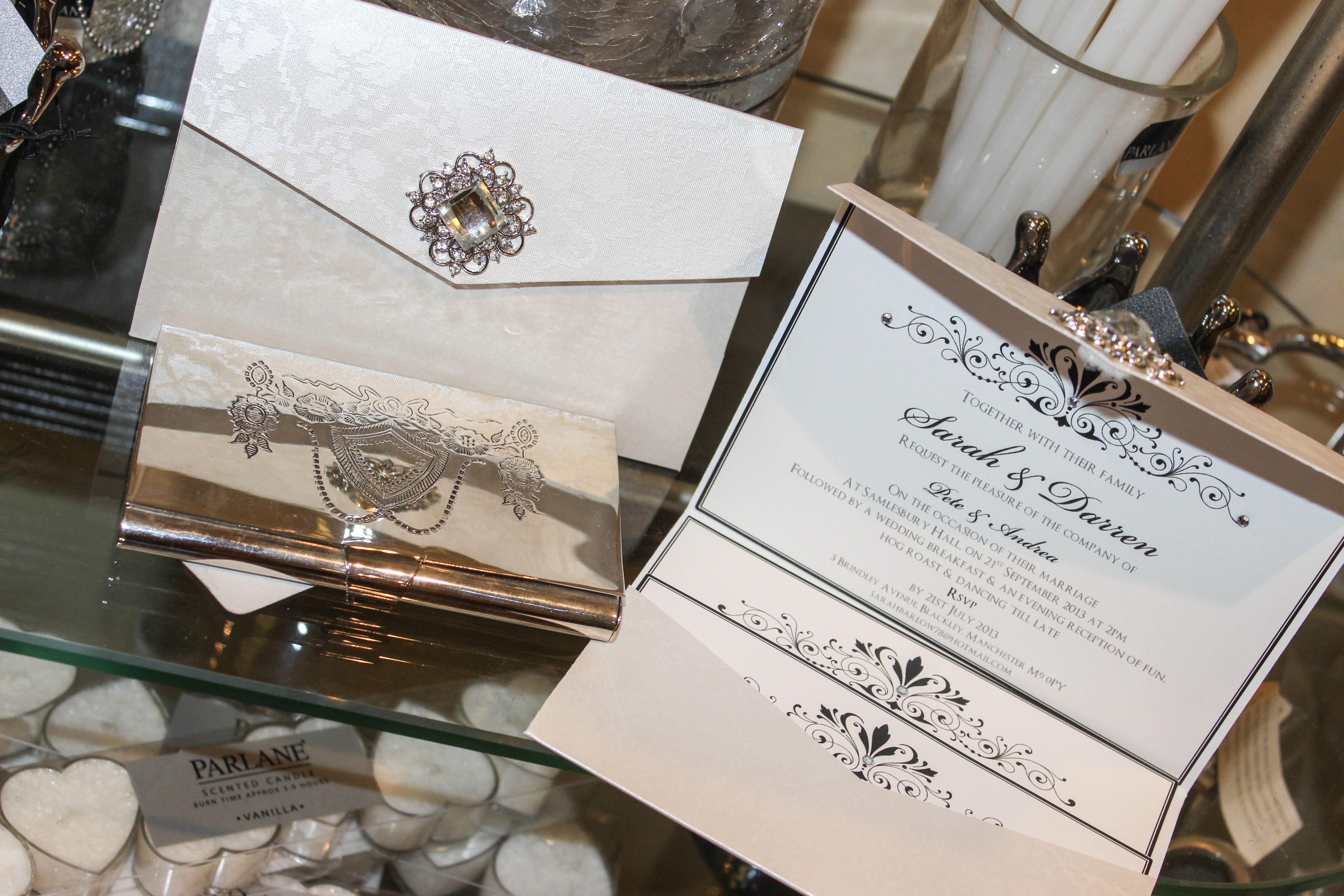 Elegant envelope type pocketfold wedding invitation with choice of ...