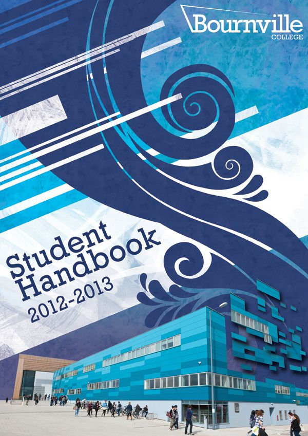Bourneville college Student Handbook cover My Work (design) Book