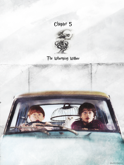 The Whomping Willow Ron And Harry Harry Potter Obsession Harry