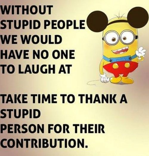 40 Funny Minions Quotes And Sayings. Minion WallpaperStupid PeopleYou ...