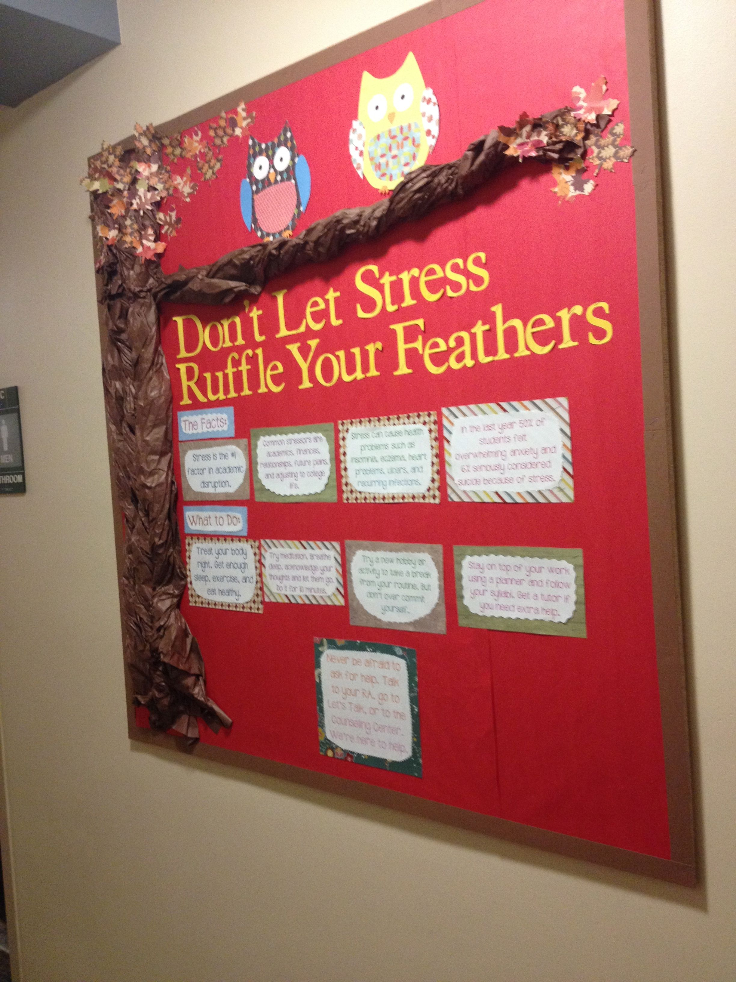 Stress and owls alternative recess and regroup room pinterest