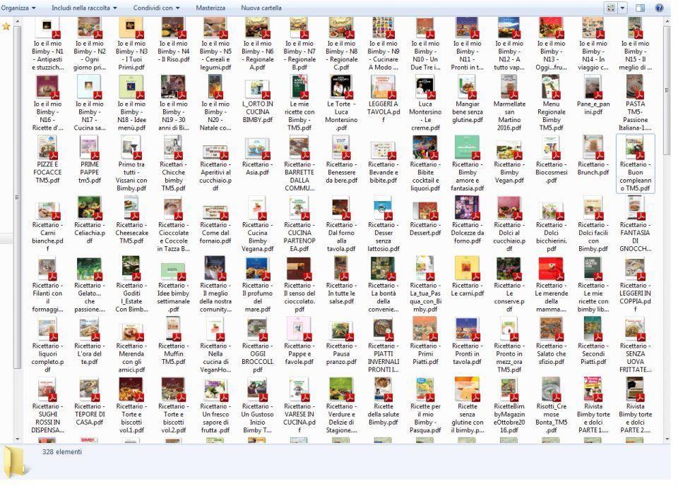 MEGA-Raccolta Ricettari BIMBY in PDF