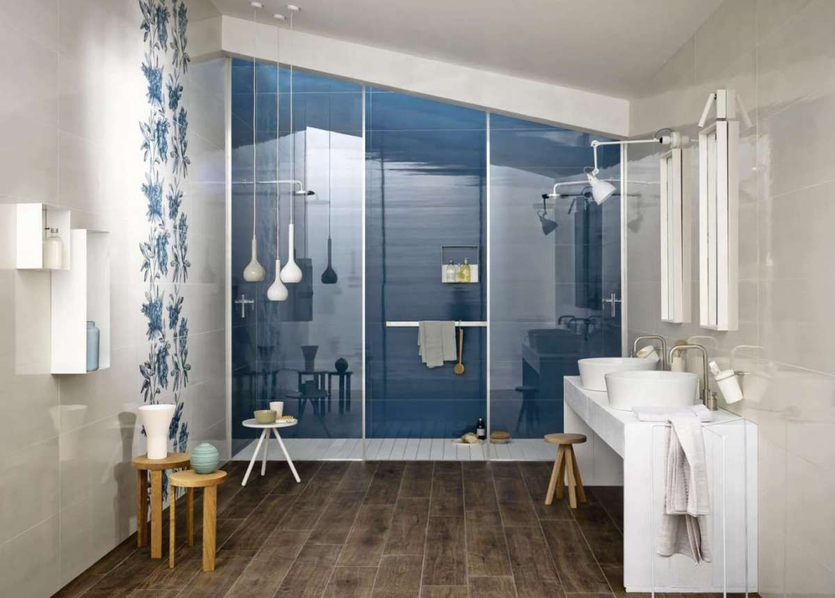 Piastrelle bagno moderno in bagno flooring