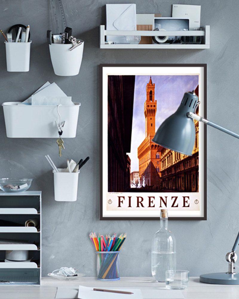 Vintage Firenze Travel Poster - 1920s Italian Tourism Art Print ...