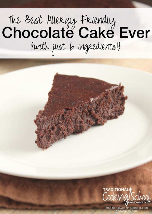 The Best Allergy-Friendly Chocolate Cake Ever {with just 6 ingredients!}