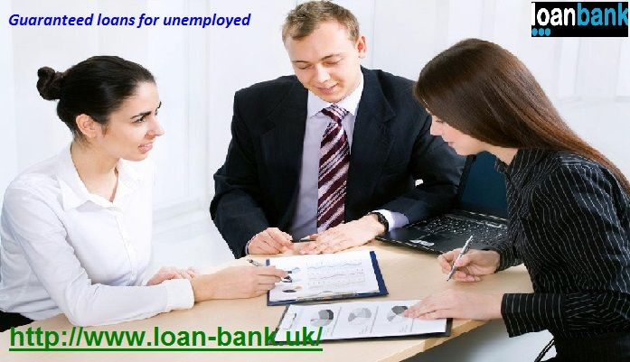Loan Bank offers realistic deals on loans for unemployed people in UK. The loans for unemployed people are provided with guaranteed approval in quick time. These loans help in reducing stress from monetary life. For more detail on guaranteed loans for unemployed, visit: www.loan-bank.uk/guaranteed-loans.html