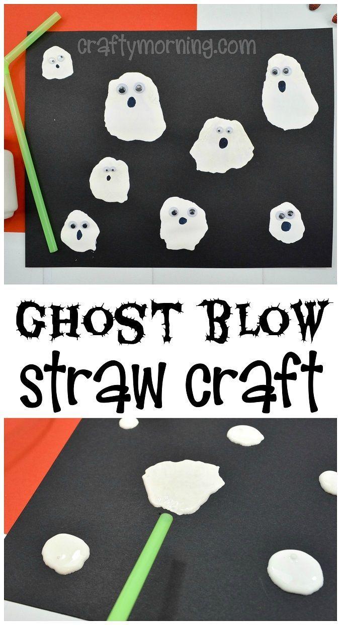 Ghost Blow Straw Craft - Crafty Morning