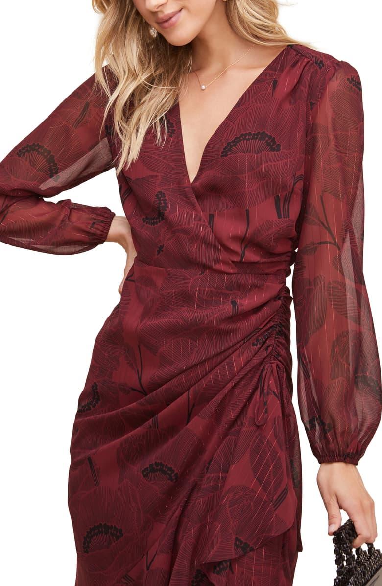 Astr The Label Floral Print Long Sleeve Faux Wrap Dress Nordstrom Wrap Dress Nordstrom Dresses Faux Wrap Dress [ 1196 x 780 Pixel ]