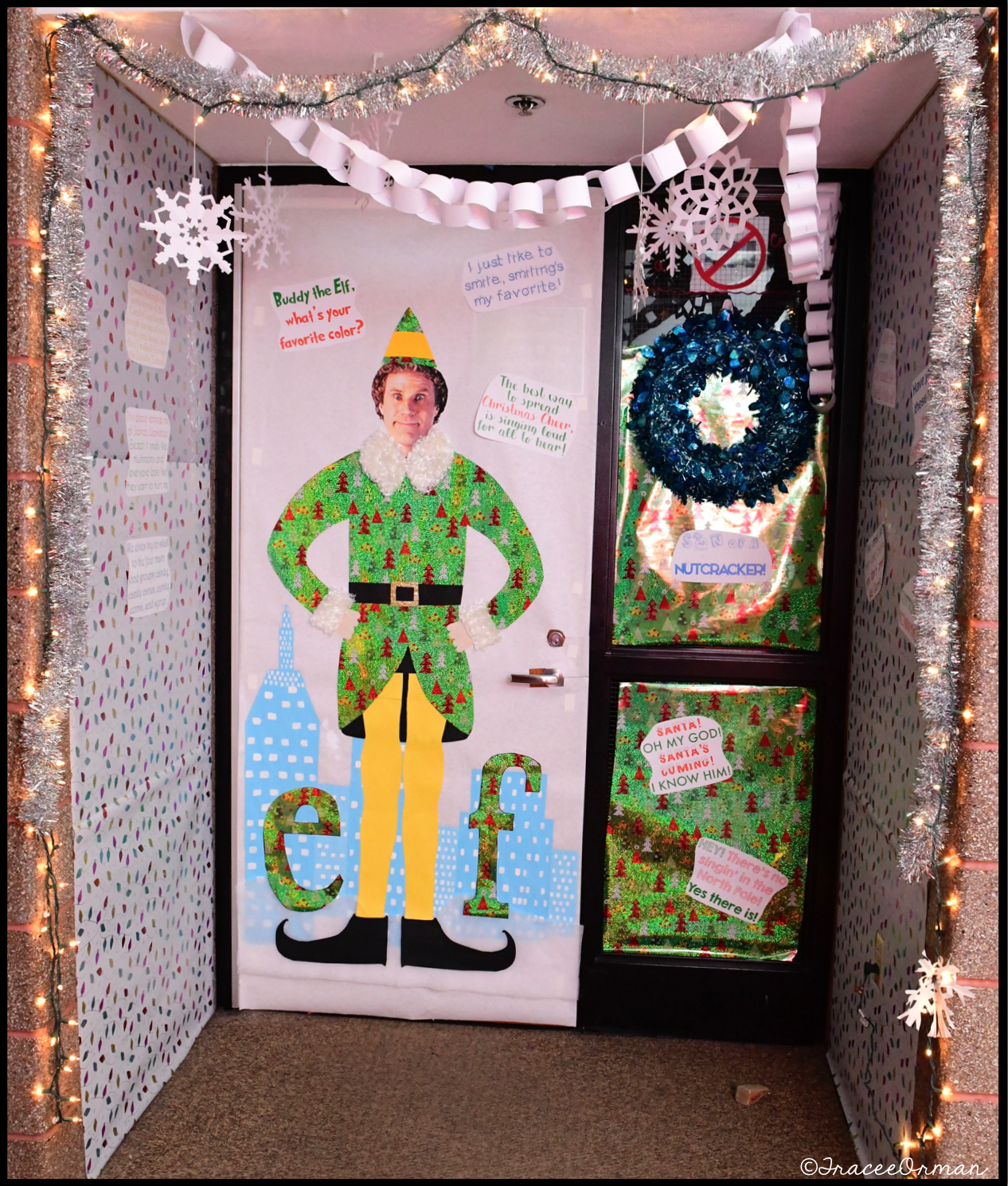 Holiday Door Decorating Decoration Porte Decoration