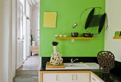 Couleur dans la cuisine : osez le vert pomme, vert gazon, vert olive ...