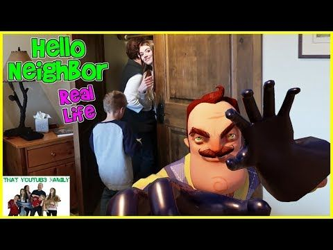 Hello Neighbor Real Life In A Cabin That Youtub3 Family