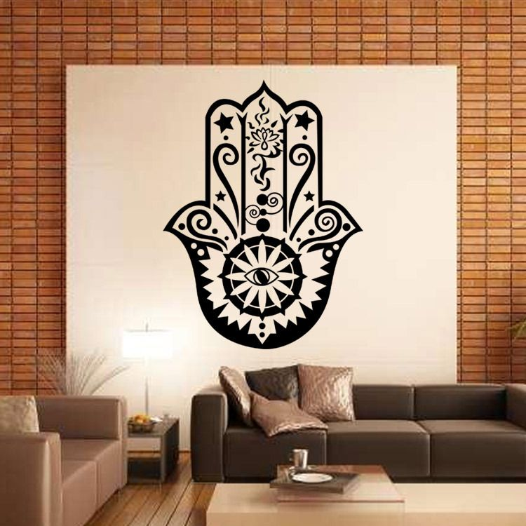Ic Culture Protective Dess The Hand Of Fatima Wall Stickers For Sitting Room Tv Background