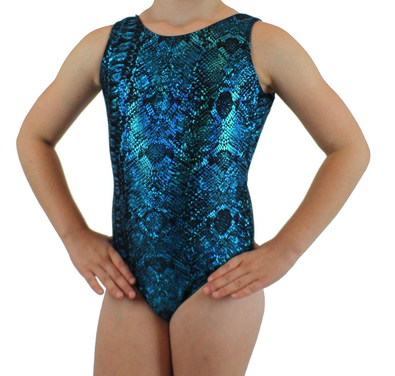 Blue and Black Gymnastics Leotard - Girls Leotard - Limited Quantities!