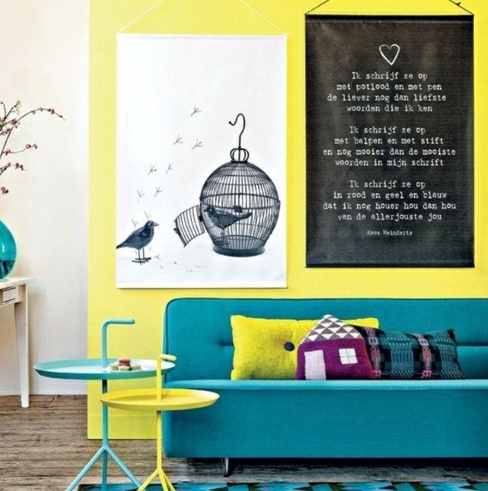 ▷ 1001 + idées créer une déco en bleu et jaune conviviale | Searching