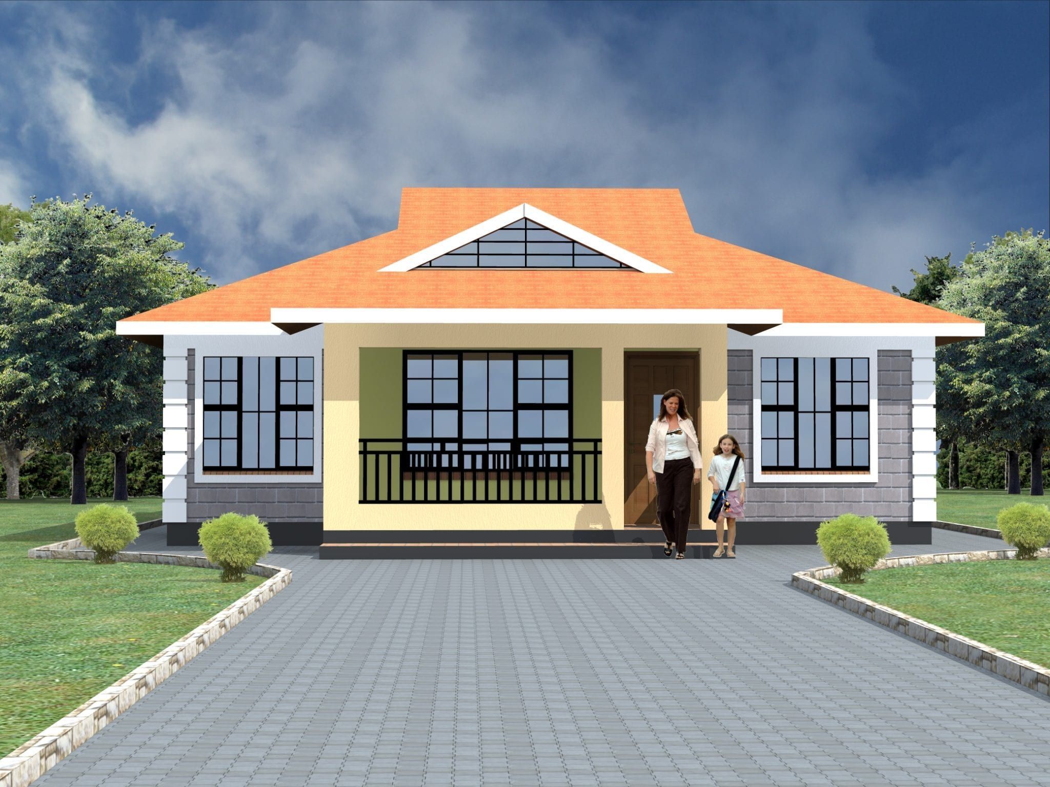 Free Modern 3 Bedroom House Plans Hpd Consult In 2020 Cheap House Plans Modern Bungalow House Plans Modern Bungalow House