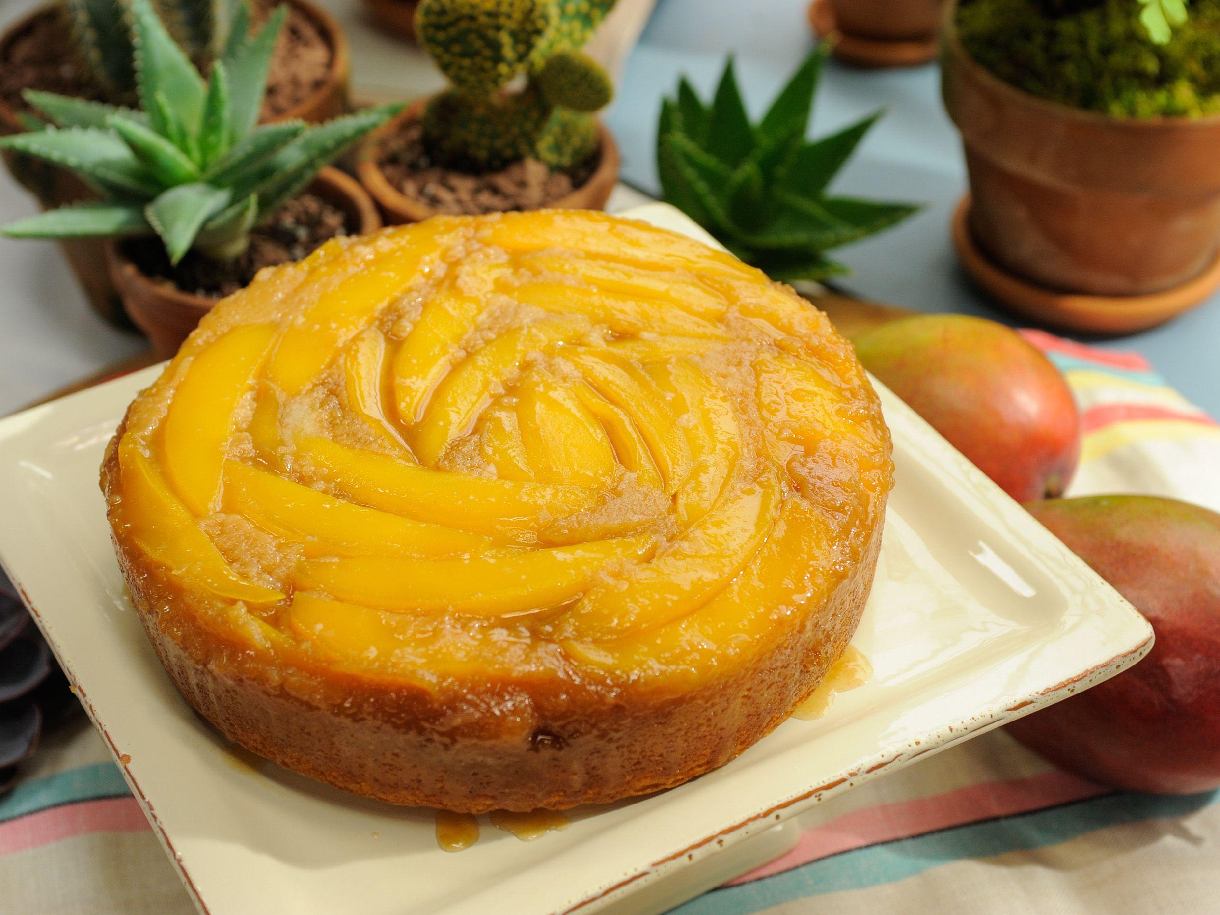 Upside-Down Mango Cake