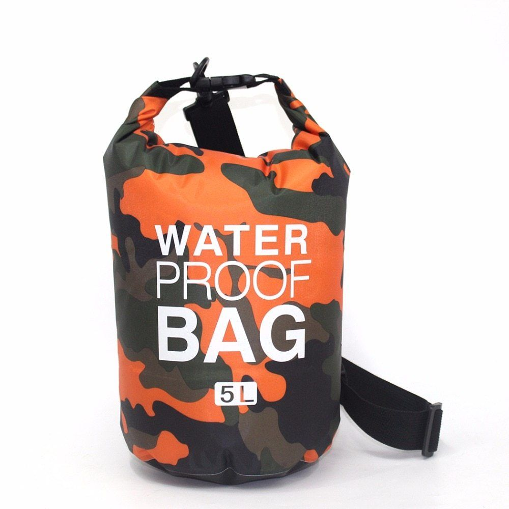 10L Waterproof Dry Bag Sack Pouch for Canoe Boating Kayaking Camping Camo