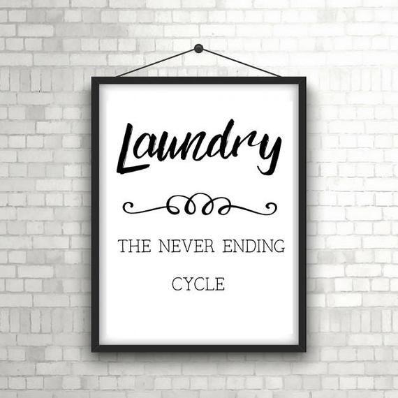 PRINTABLE Funny Laundry room sign - Laundry room wall decor