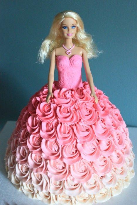 Barbie Doll Cake Cakepins Com Barbie Doll Cakes Barbie Doll