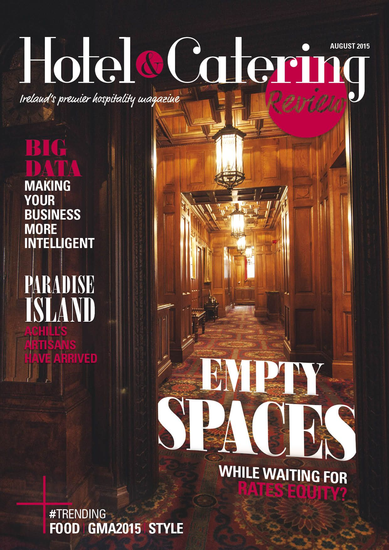 Hotel & Catering - August 2015 | Magazine Design // Covers