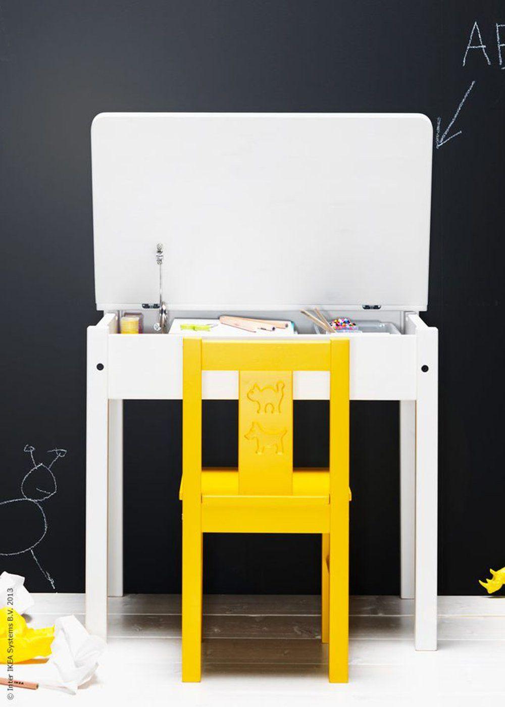 bureau enfant blanc modèle sundvik ikea | Bureau enfant