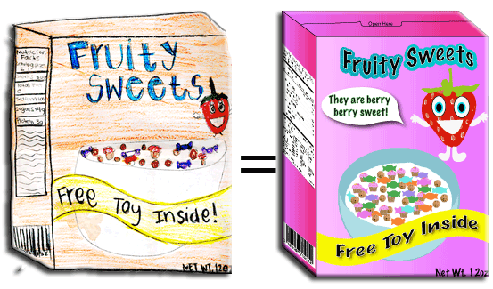 how to create a cereal box design