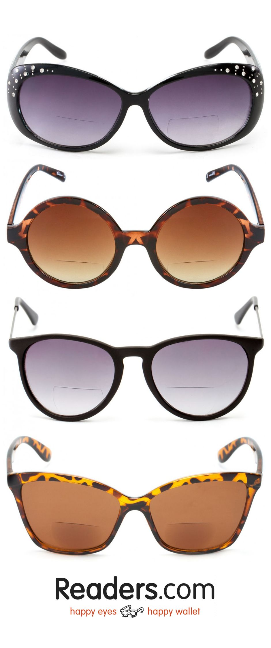 e2dae3122e35 Add a little mystery with our bifocal reading sunglasses for women ...