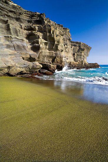 Papakolea Green Sand Beach Island Hawaii Lethawaiihen Dan330 Http